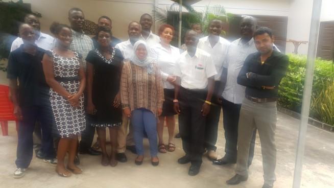 Tan with the GSS Ghana team